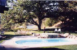 The swimming pool at Southfork River Guest Ranch in Kooskia ID
