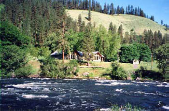 South fork of the Clearwater River flows by this beautiful location.