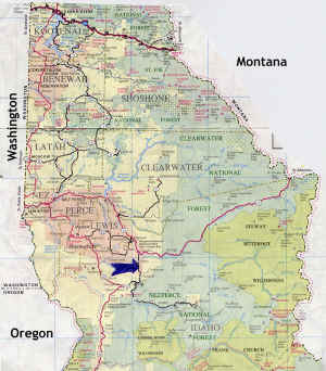 We are located in north central Idaho less than 2 hours from Montana, Washington and Oregon