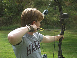 Sharpen your archery skills on our target range
