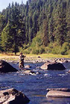 The South Fork of Idaho's Clearwater River provides world class fishing and hunting opportunities.